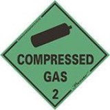 SDS Compressed Gas Sticker