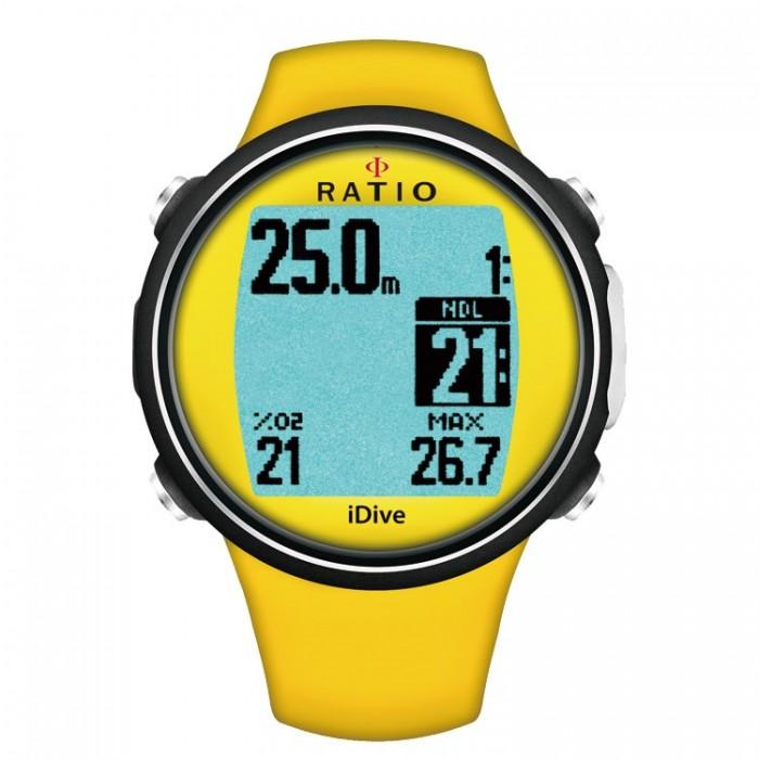 Ratio iDive Sport Easy Yellow Dive Computer - Scuba Diving ...