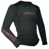 Sharkskin Unisex Black Rapid Dry Long Sleeve Rash Guard