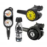 Scubapro MK2 EVO/R195 Regulator, R095 Octopus & Double Gauge Set