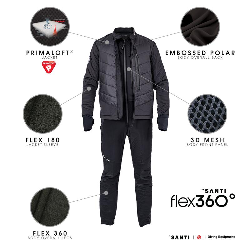 Santi flex 360 2 piece mens undersuit scuba diving superstore - Moderne oudersuite ...