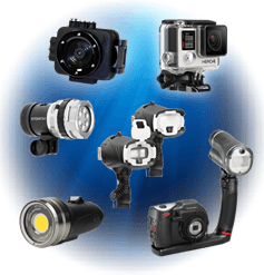Scuba Diving Cameras and lighting