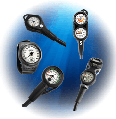 Scuba Diving Console Gauges